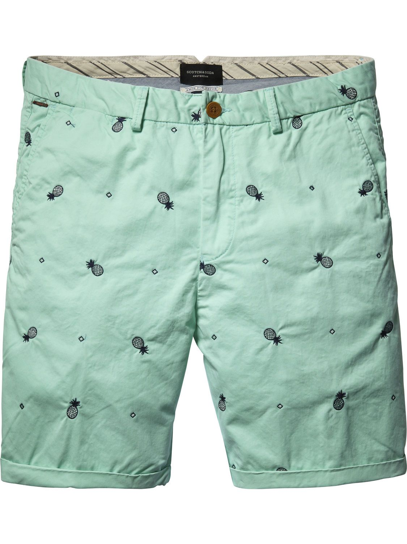 025848a90d Embroidered Chino Shorts |Short pants|Men Clothing at Scotch & Soda ...