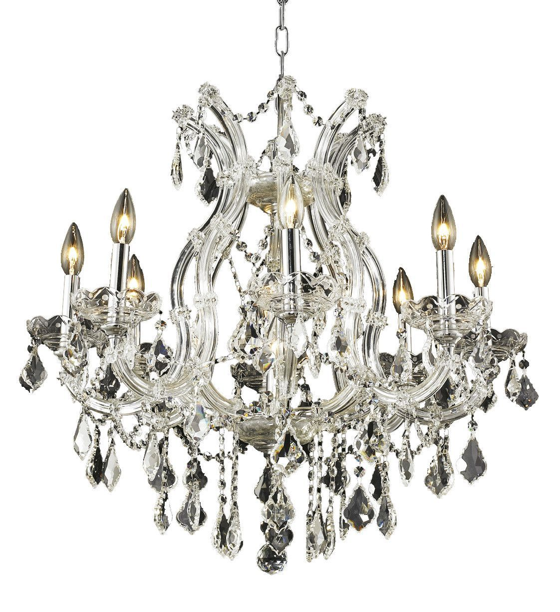 Maria theresa 9 light crystal clear chandelier in chrome finish maria theresa 9 light crystal clear chandelier in chrome finish 2800d26csa aloadofball Images