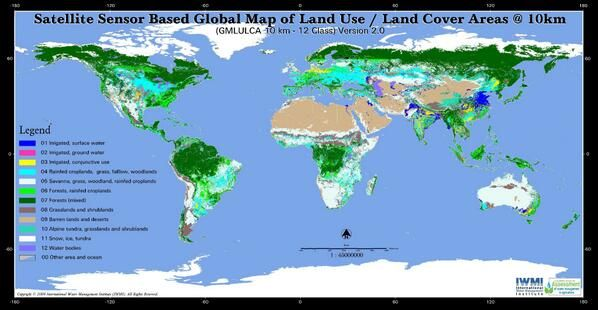 Global Map of Land use / land cover Areas 10 Km.