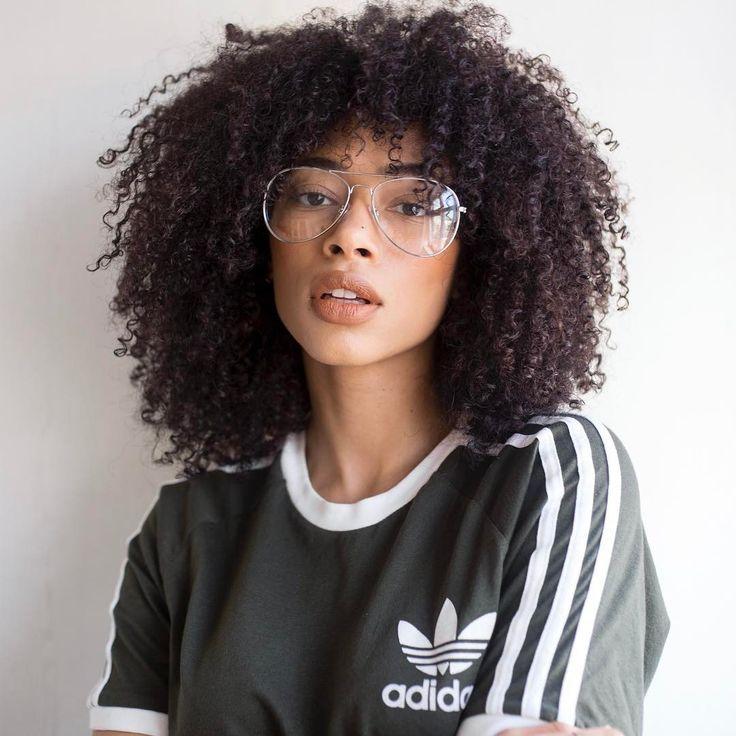 Natural Curly Haircuts With Bangs