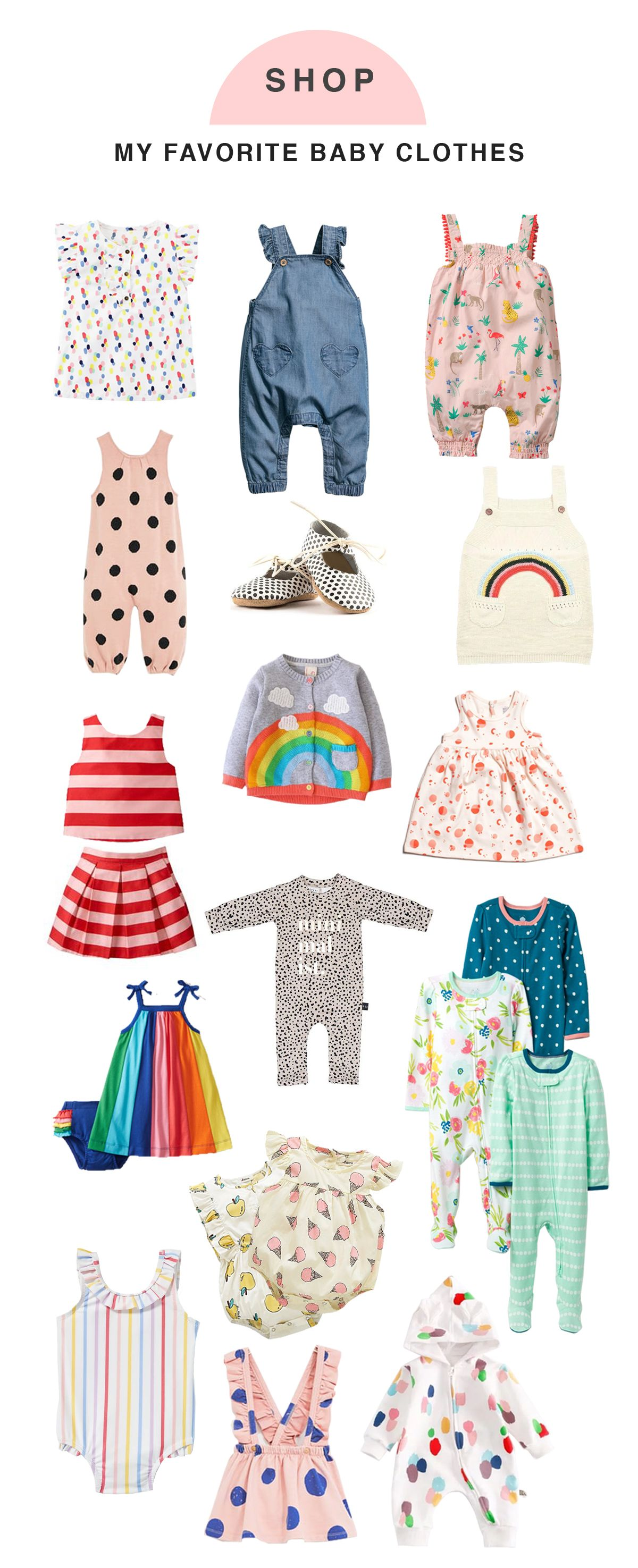 My Recent Favorite Places to Shop For Baby Clothing & Keeping them