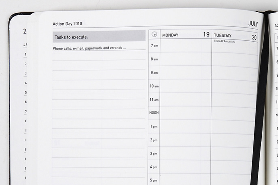 Paper Planner Review Action Day Planner  Spark Productivity