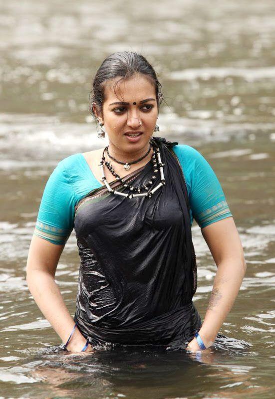 Catherine Tresa Wet Saree Stills From Latest Kadamban -9224