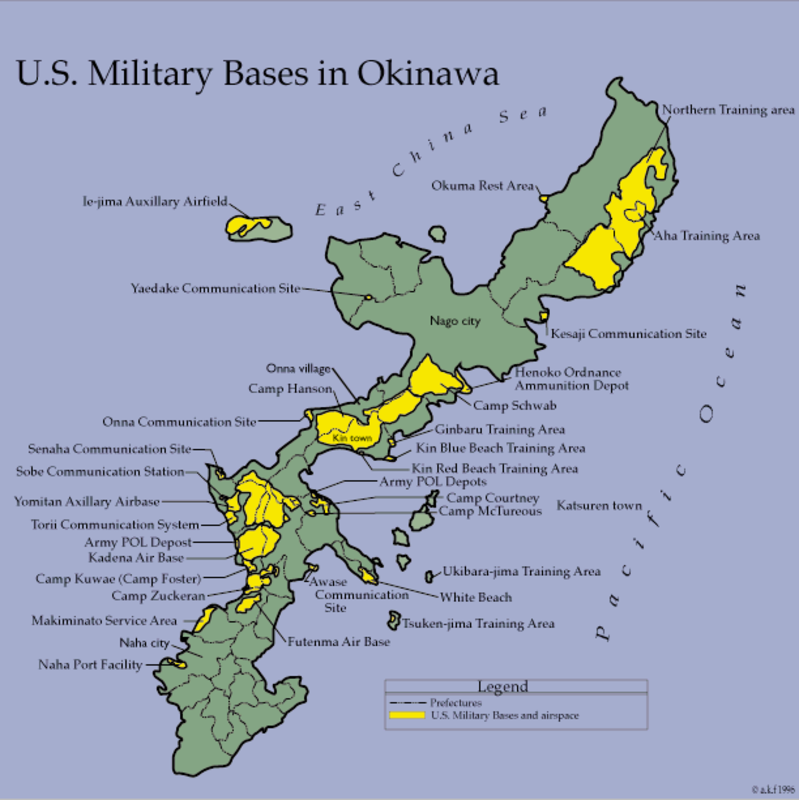 Marine Base In Japan Map.U S Army Bases Okinawa Japan Www Naturalrugs Store