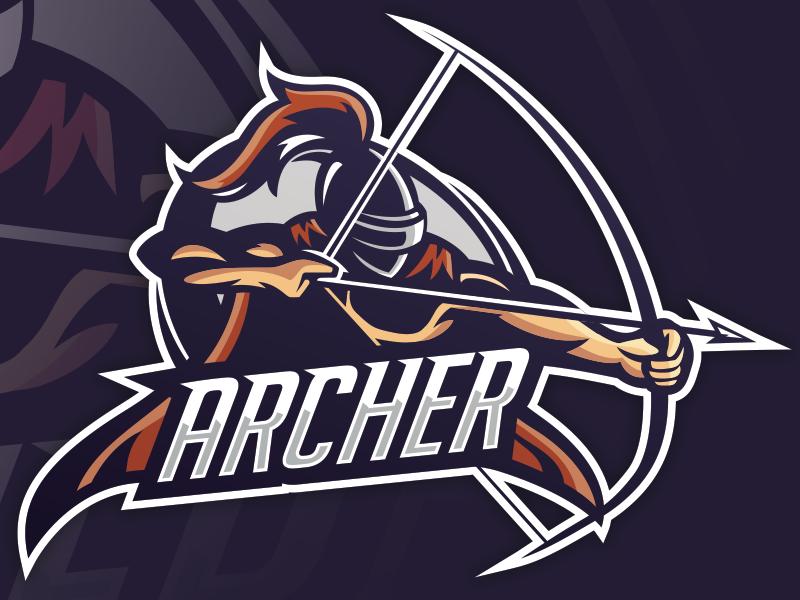 """Archer"" eSports Mascot Game logo design, Sports team"