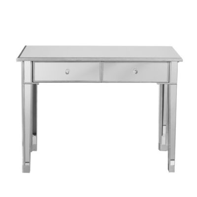Www Amazon Com Mirage Mirrored 2 Drawer Console Table Dp
