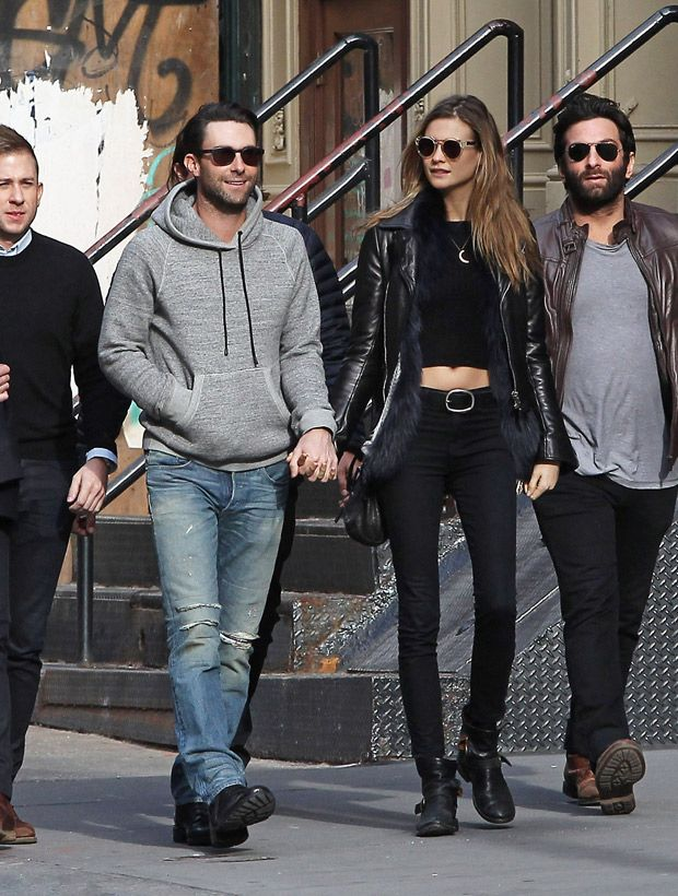 Adam Levine And Behati Prinsloo Get Cute And Cuddly While