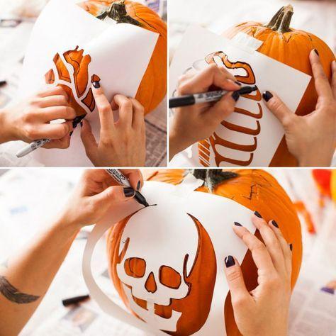 40 kostenlose Kürbis Vorlagen zum Ausdrucken + Schnitzen-Anleitung #halloweendecorations