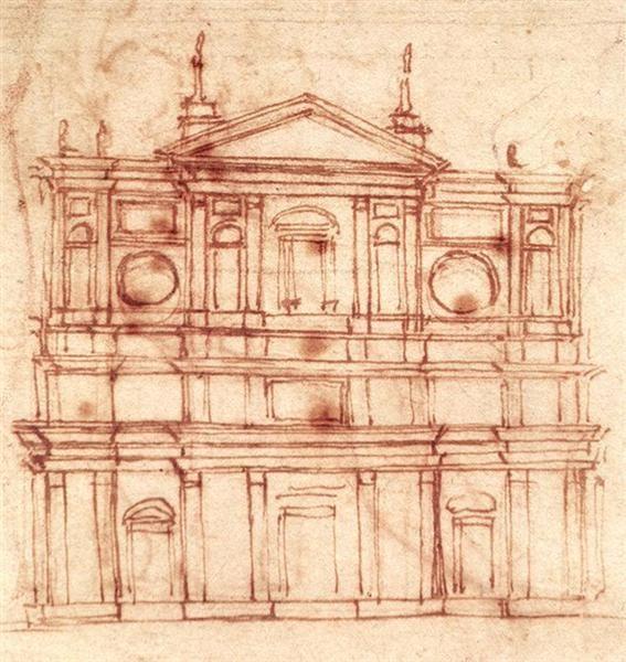 Miguel Angel. Proyecto de fachada para San Lorenzo de Florencia