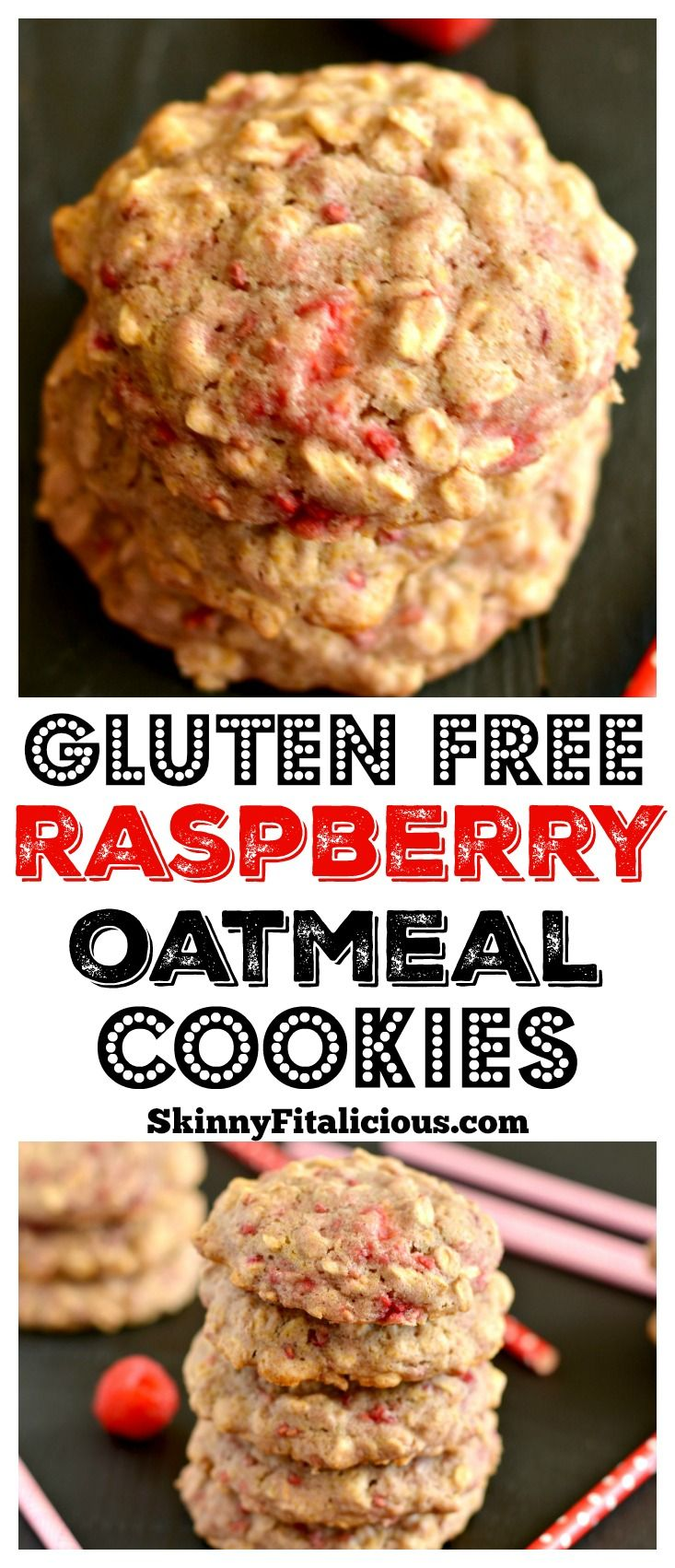 These soft and chewy Healthy Raspberry Oatmeal Cookies are ...