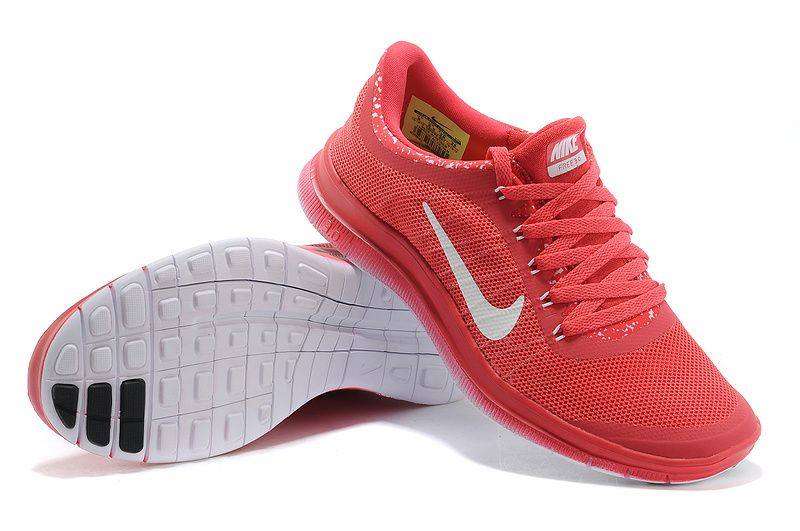 46.69 Womens Nike Free 3.0 V6 Flyknit Red Crimson White  red  shoes ... 3207c2f787
