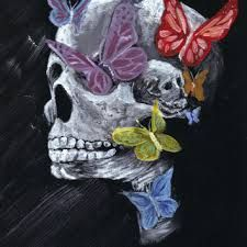 Image result for melting skull art
