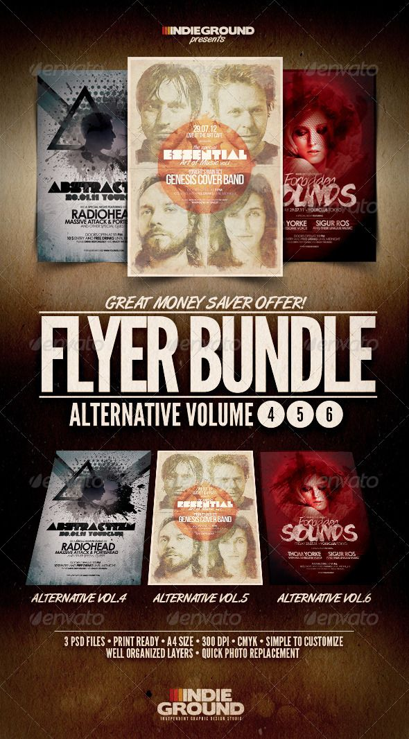 Advertising Poster Templates Interesting Alternative Flyerposter Bundle Vol46  Alternative Template And .