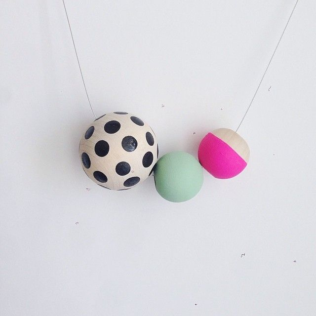 So fun. Hand painted wooden beads.