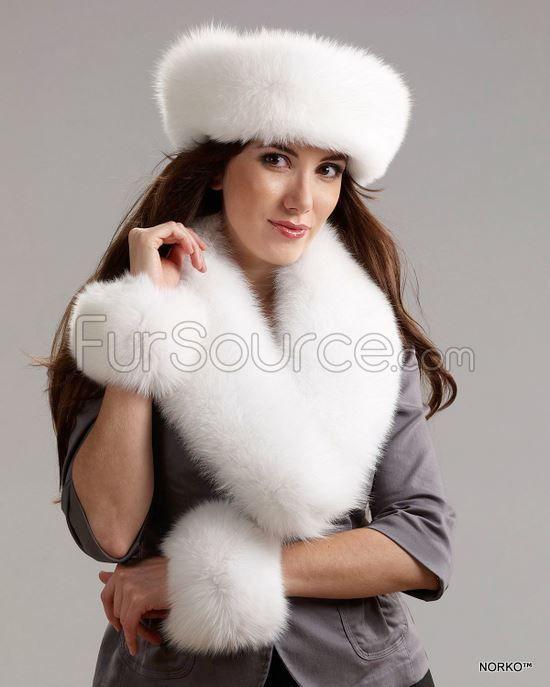 36c01c222d67a Fur Collar   Scarf - White Fox Fur