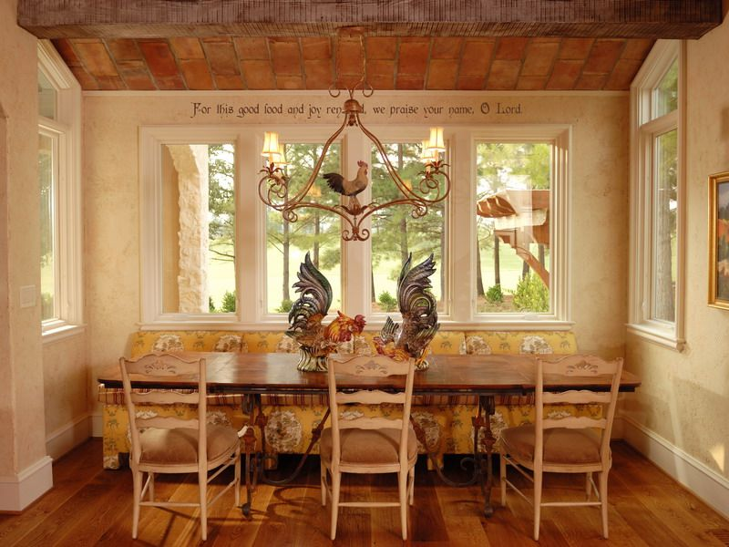 House photos french country kitchens country kitchen for Country kitchen wallpaper ideas