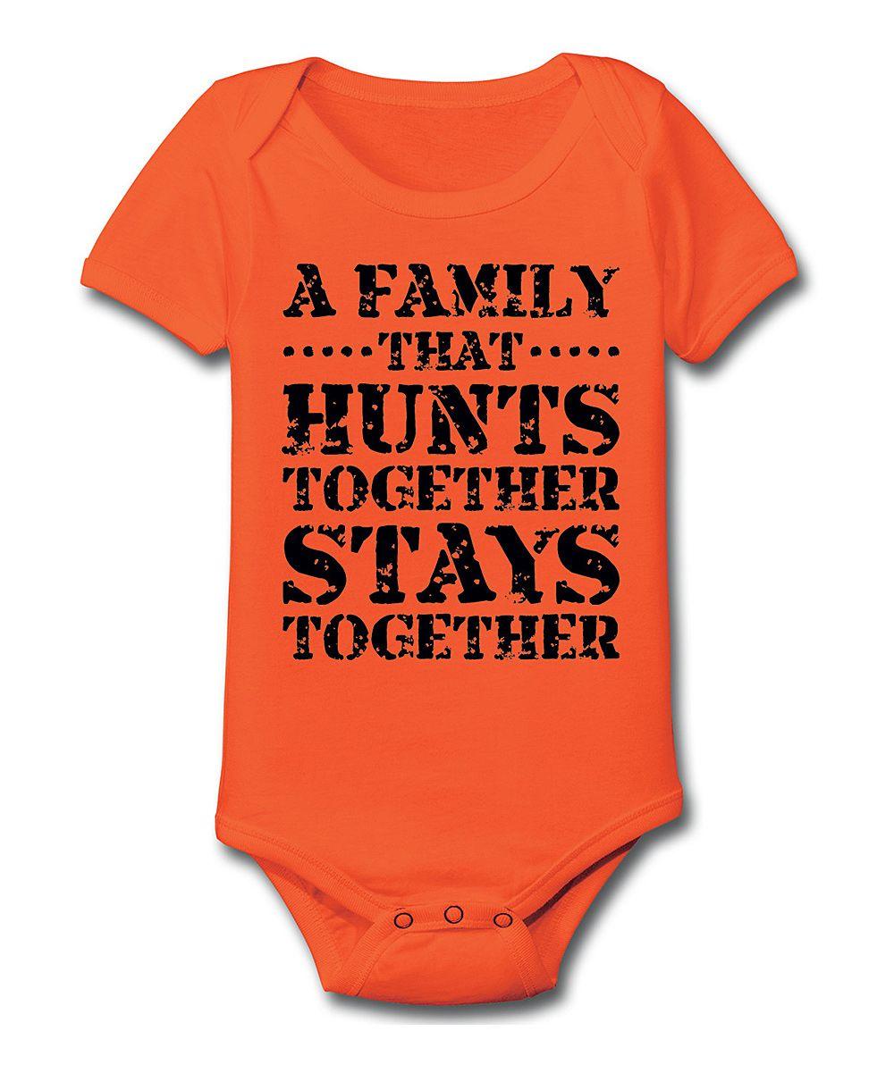 Orange Hunts Together Bodysuit Infant Something Special Every