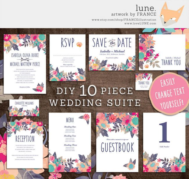 19 totally stunning watercolor wedding invitations wedding 19 totally stunning watercolor wedding invitations solutioingenieria Images