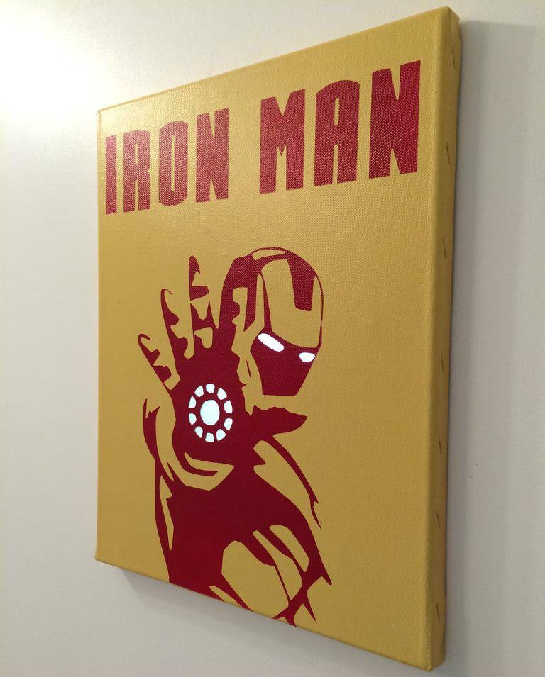 Backlit iron man poster diy s for sale ni os pinterest decoracion infantil parche y dibujo - Poster decoracion ...