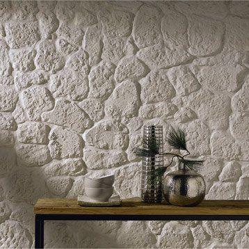 plaquette de parement luberon en pl tre beige next flat ideas papier peint pierre peinture. Black Bedroom Furniture Sets. Home Design Ideas