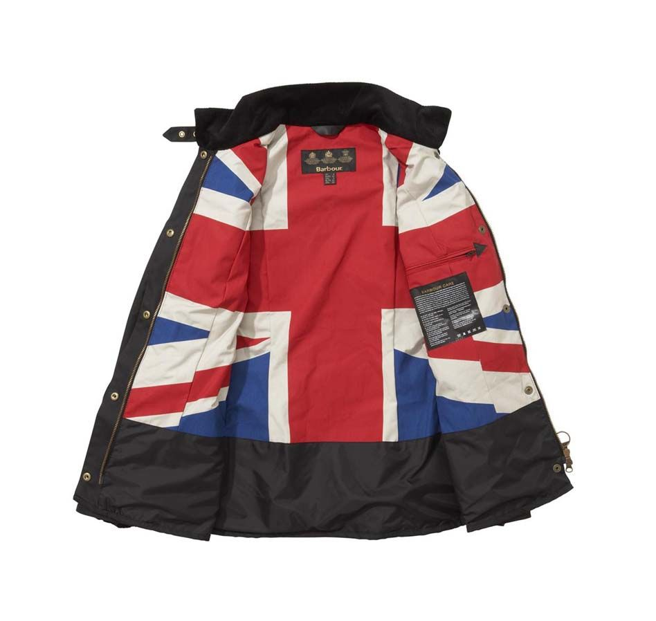 Barbour International Jacket With Union Jack Lining
