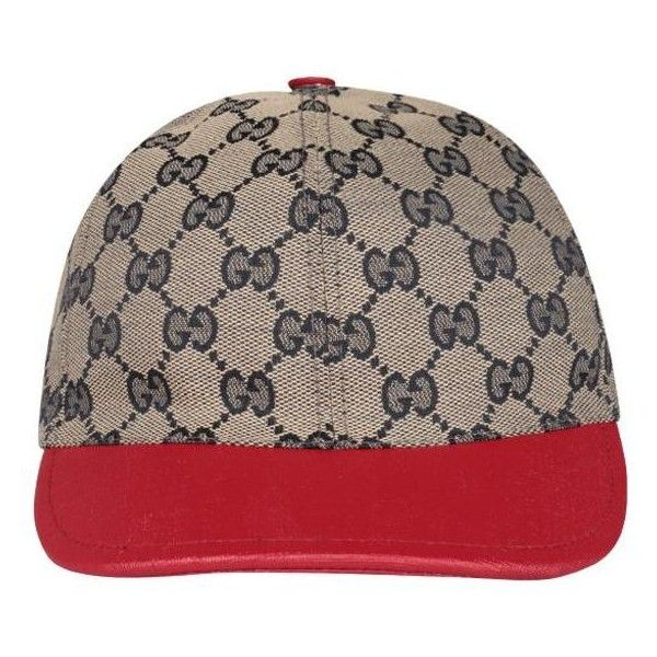 6f13027882c Gucci Original GG cap ( 159) ❤ liked on Polyvore featuring accessories