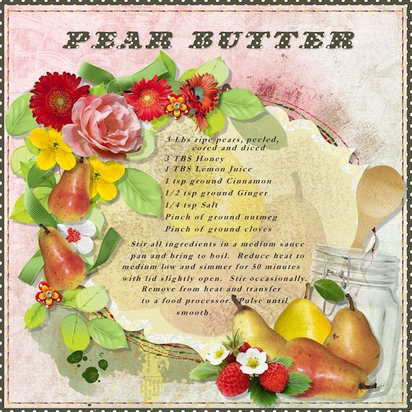 Everything from Pear Butter and Strawberry Jam by ADB Designs, which can be found here: http://www.digitalscrapbookingstudio...ry-jam-bundle/