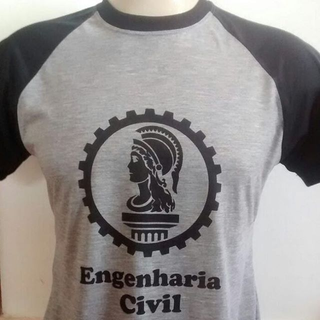 Engenharia civil 😍 Camiseta raglan 100% poliéster. E você aí 583570b5b28