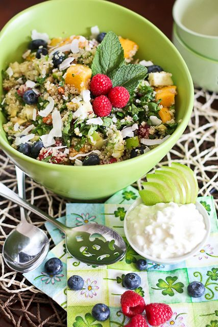 Salad For Breakfast Oh Yeah Breakfast Quinoa Salad Recipe Quinoa Salad Clean Breakfast Quinoa Breakfast