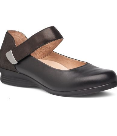 Dansko 6701020202 Women's Black Nappa Audrey Mary Jane Flats - New With Box