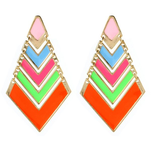 Amrita Singh Chevron POP Earring ($50) ❤ liked on Polyvore