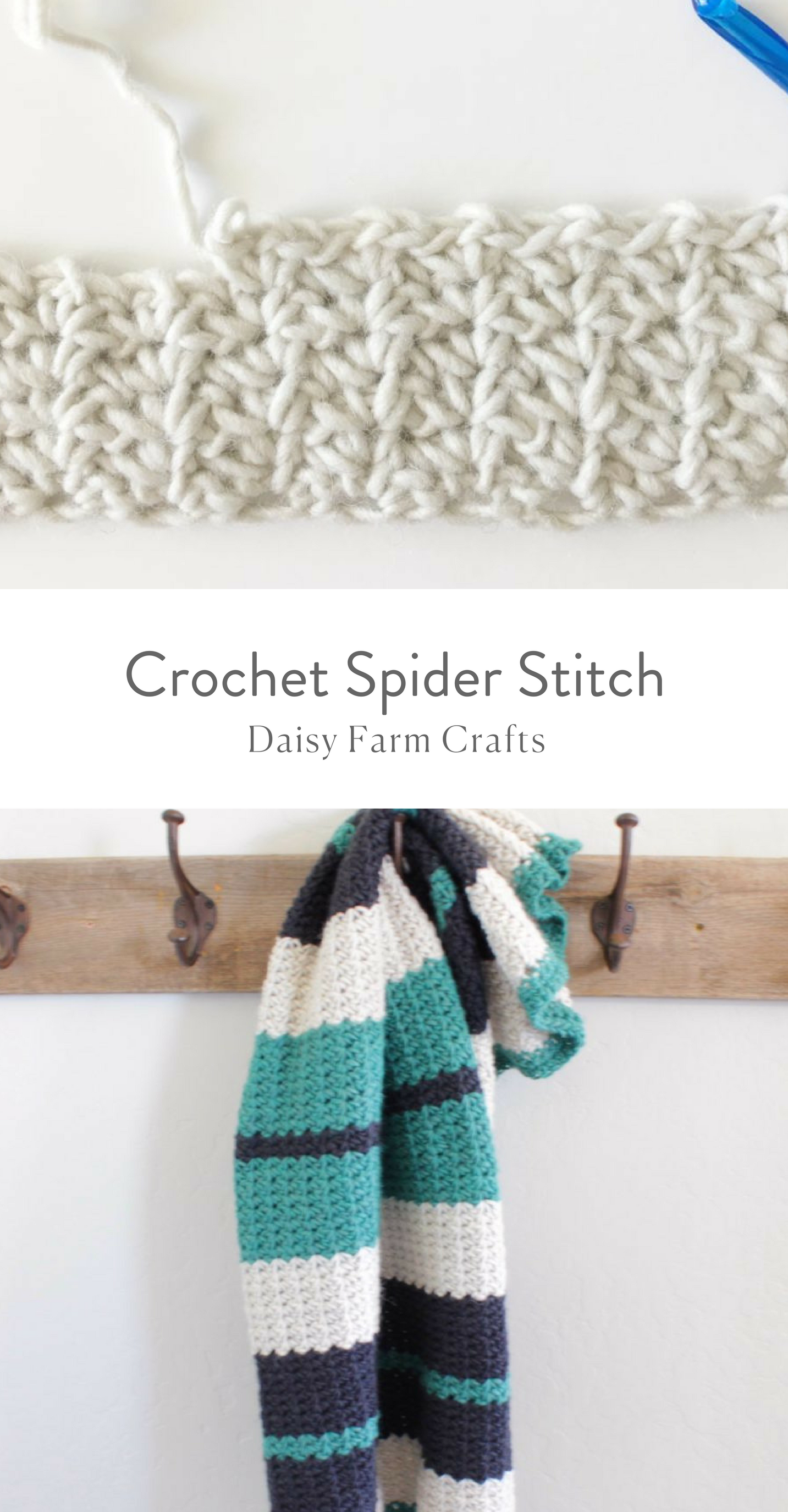 Free Pattern - How to Crochet the Spider Stitch #crochet   sewing ...