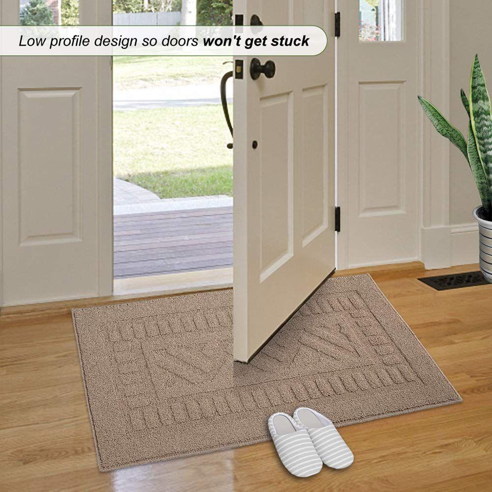 Indoor Doormat Super Absorbs Mud Mat 20x 33 8latex Backing Non Slip Door Mat For Front Door Rug Inside Floor Dirt Trappe Front Door Rugs Door Rugs Entrance Rug