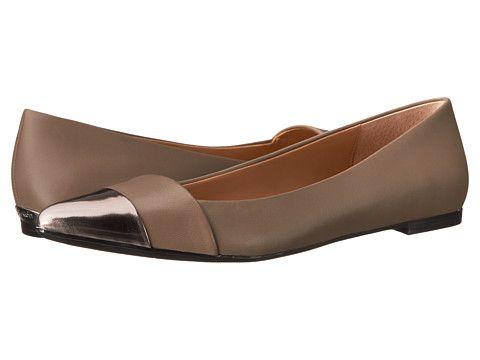 Womens Shoes Calvin Klein Goldie Espresso/Espresso Leather/Box Metallic