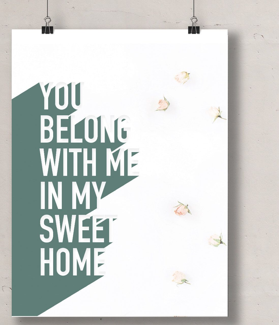 Song Lyric Wall Art song lyrics wall art, lumineers lyrics - typography print