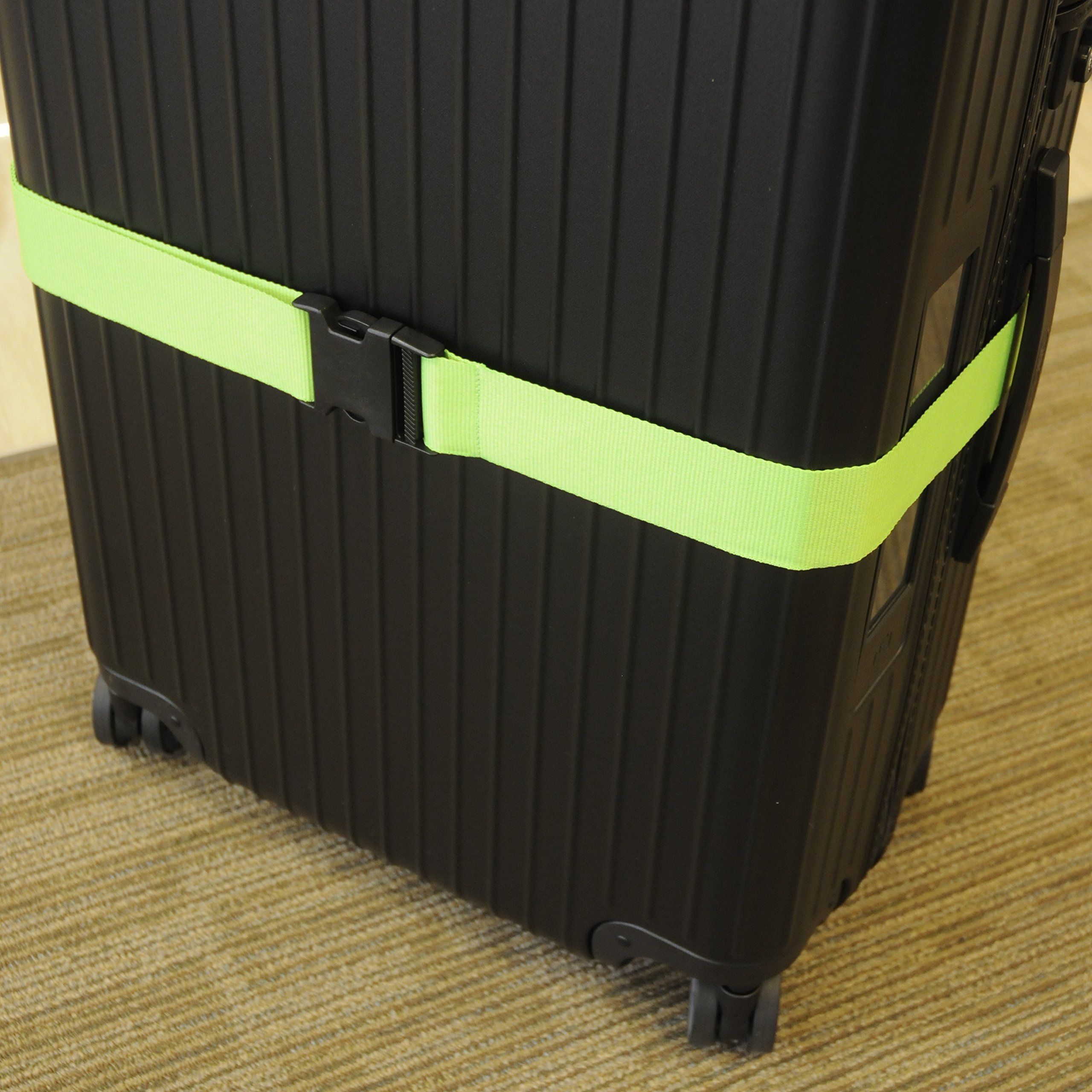 Neon Green Luggage Straps And Suitcase Belts Pack Of 2