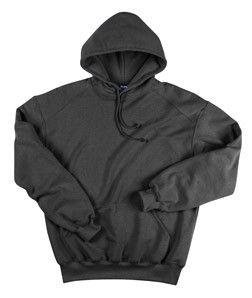 Large Badger Sport Hooded Sweatshirt with Sport Shoulders 1254 Black
