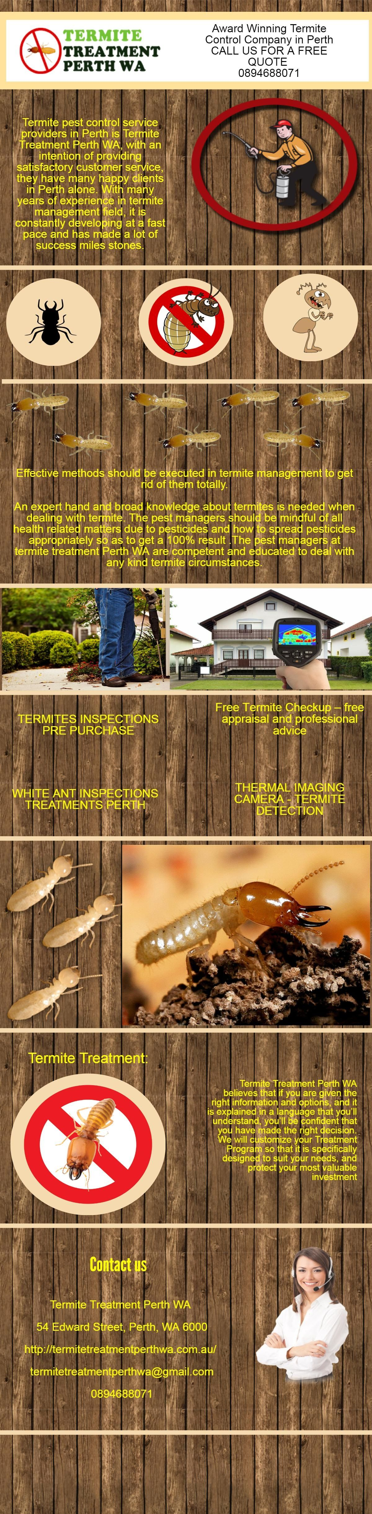 We provide best in class termite treatment service at an