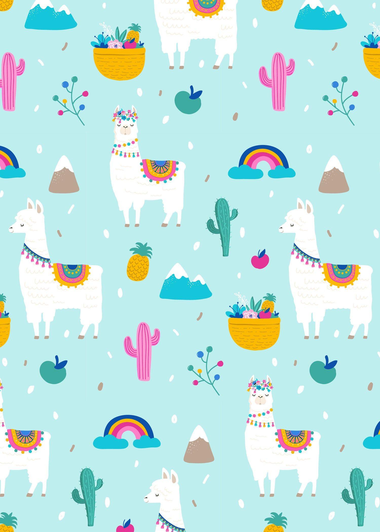 Llama Birthday Invitation A Whole Llama Fun Llama Party Etsy Llama Birthday Iphone Wallpaper Cute Wallpapers
