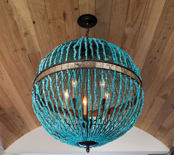 Turquoise Orb Beaded Chandelier Currey And Co Alberto