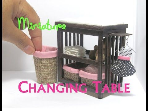 7 diy changing table and baskets dollhouse furniture miniature rh pinterest com