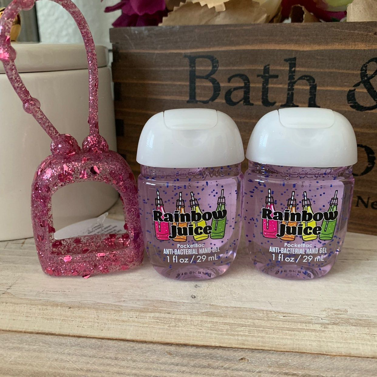 Bath Body Works Pocketbac Set Glittered Silicone Pocketbac