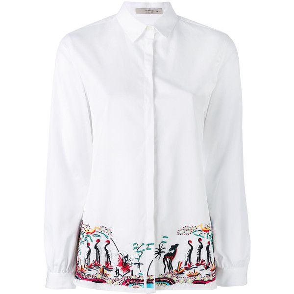 embroidered shirt - White Etro Cheap Sale Newest BNQE13RV