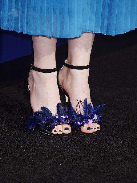 Actress Emma Stone shoe detail at the Premiere Of Lionsgate's 'La La Land' at Mann Village Theatre on December 6 2016 in Westwood California