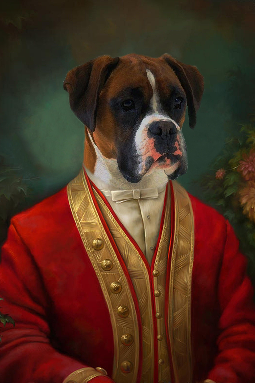 CUSTOM Historical Pet Portrait Framed Canvas/ Personalized