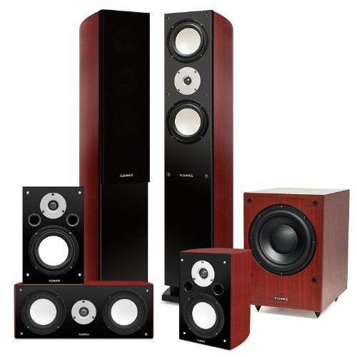 Fluance XLHTB High Performance 5 Speaker Surround Sound Home Theater ...