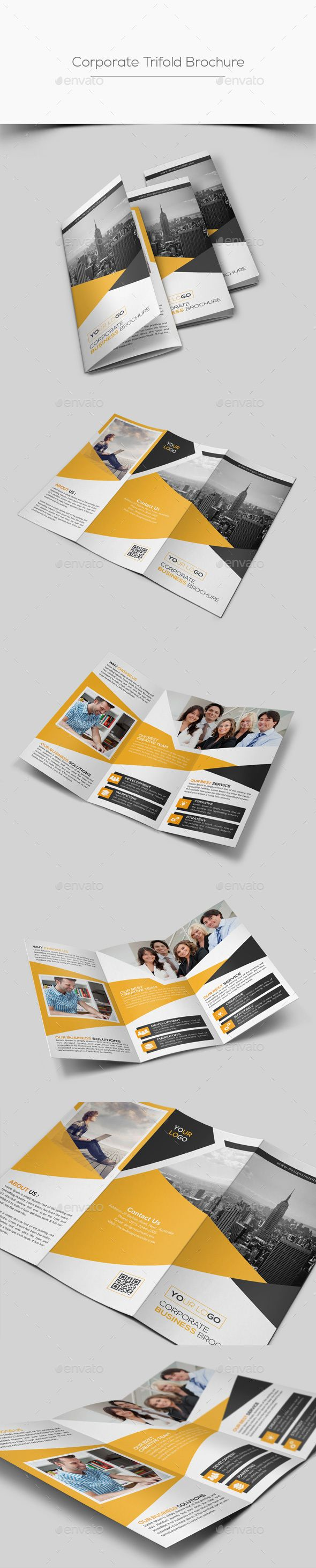 corporate trifold brochure by designsoul14 adobe photoshop cs5 fully layered psd files easy customizable and editable easy to use your own photossmart