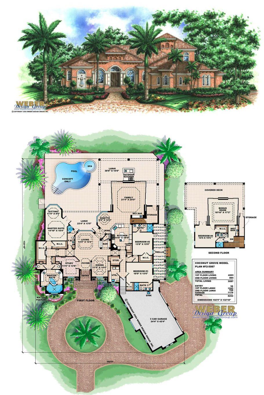 Tuscan House Plan Coastal Mediterranean Style Golf Course Home Plan Mediterranean Homes House Plans Tuscan House Plans