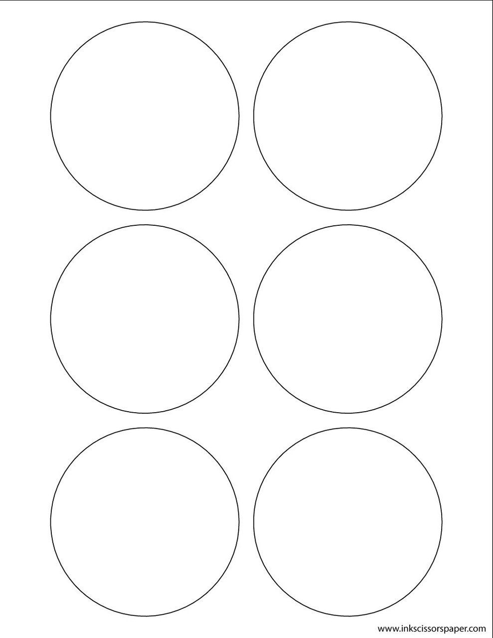 Template 3 1 4 Inch Round Labels Brown Paper