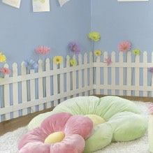 White Picket Fence Bedroom Playroom